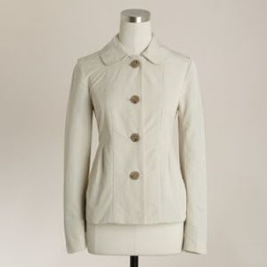 J.Crew Maisey Pleated Cream Jacket